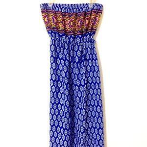 Mix Print Bohemian Maxi Spring Dress